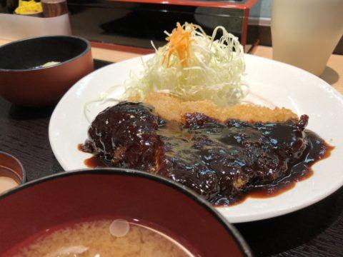 予選-お昼ご飯の味噌カツ