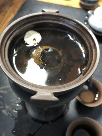 無錫-24-いれていただいたのはプーアル茶
