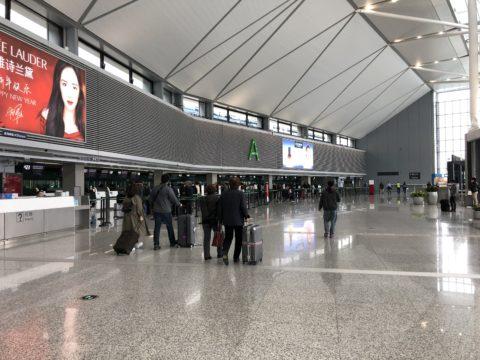 無錫-19-上海虹橋国際空港04-チェックインカウンター
