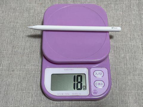 戻ってきた-iPad Air 4th-03-Apple Pencile重量